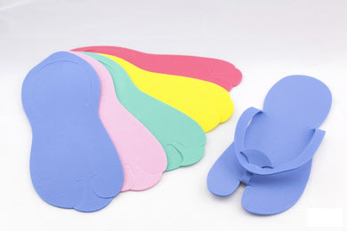 Fold Up (Hooked) Pedicure Foam Slippers - 360 Pairs