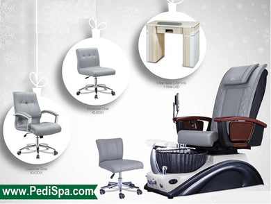Smoky Belgian Pedicure Spa and Manicure Table Nail Salon and Spa Package