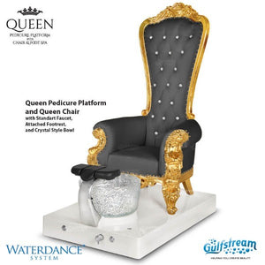 Queen Pedicure Chair Platform-Black