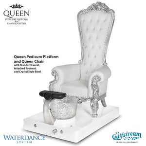 Queen Pedicure Chair Platform-White