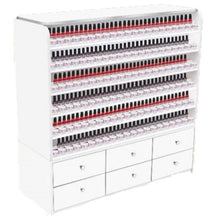 Nail Polish and Dipping Powder Rack with Cabinets