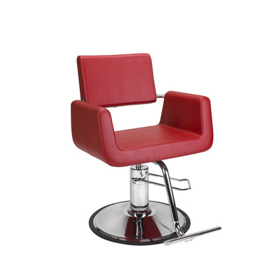 Red Cube Styling Chair - Styling Chair