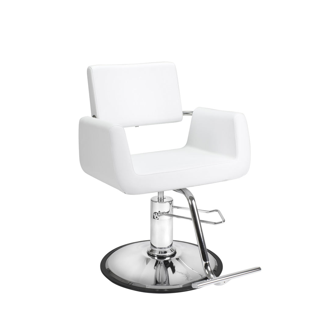 White Cube Styling Chair - Styling Chair