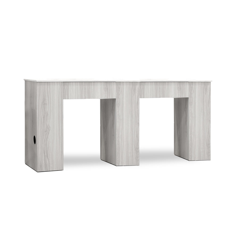 Tiffany Gray Double Manicure Table