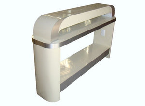 Cream Nail Dryer Table for Manicures and Pedicures