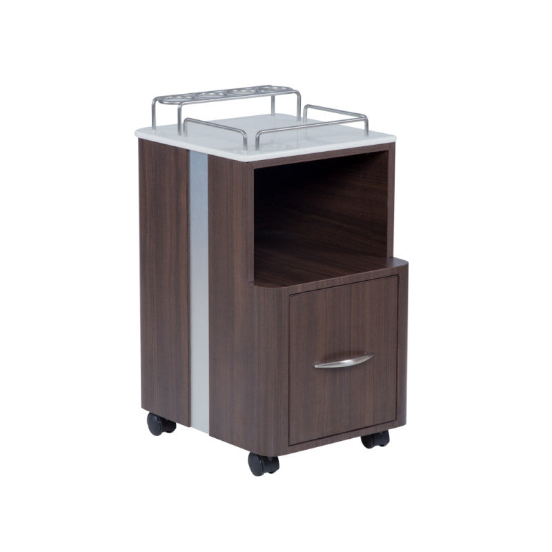 Mod Pedicure Cart - Walnut