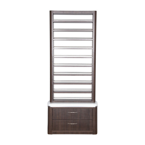 Mod Polish or Powder Rack with Cabinets - Walnut or White