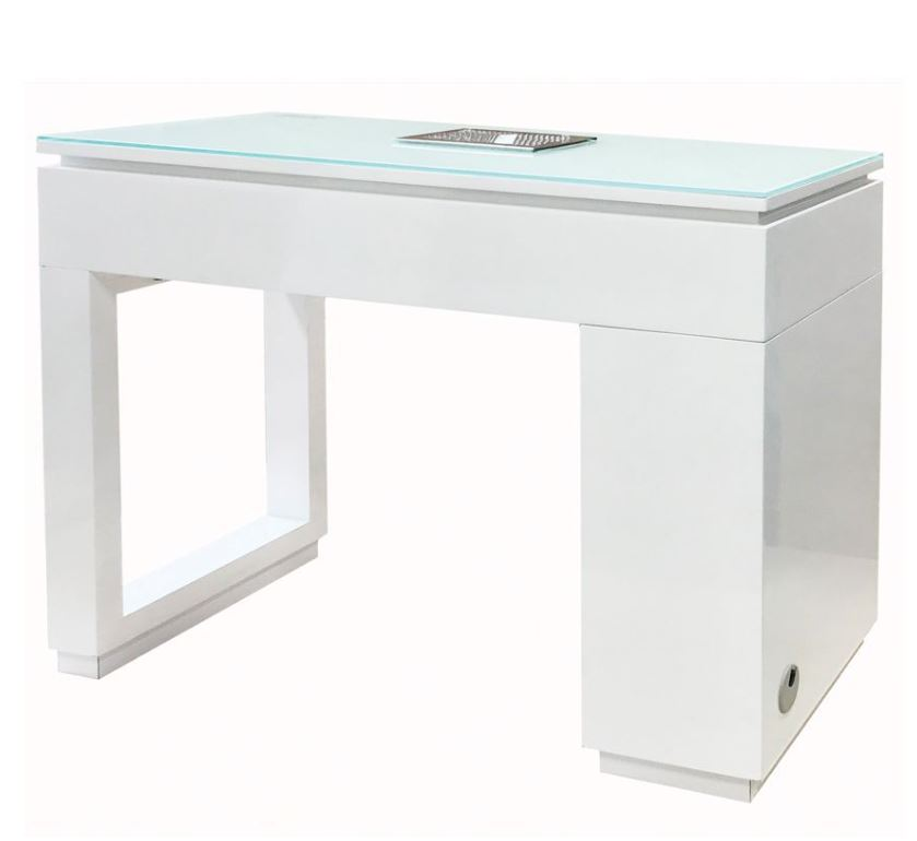 Valentino Lux Manicure Table - Piano Black or High Gloss White