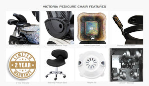 4 Victoria II Pedicure Spas - Free Shipping, Free Technician Stool