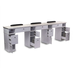 Bonny Triple Manicure Table - with or without exhaust ventilation