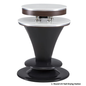 Round UV Gel Nail Drying Station for Salons