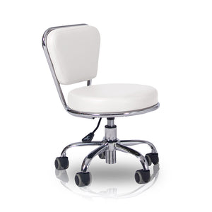 Adjustable Pedicure Stool with Back Rest- 7 Colors