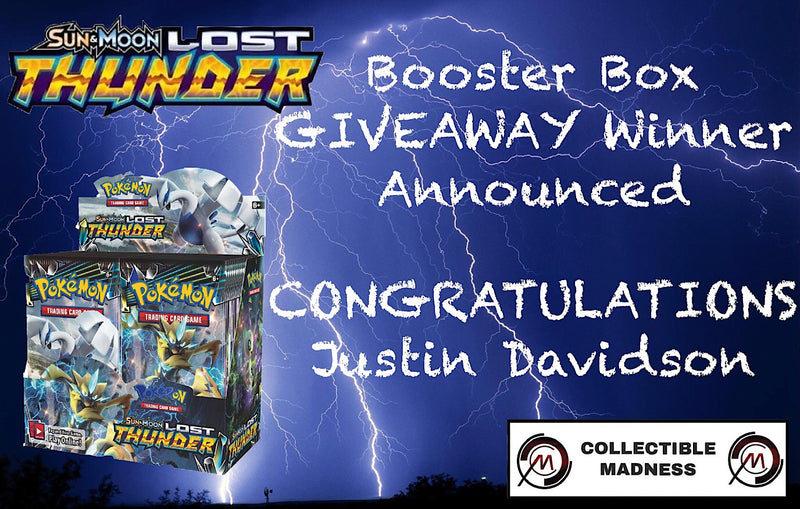 Lost Thunder Booster Box Giveaway Winner Announced