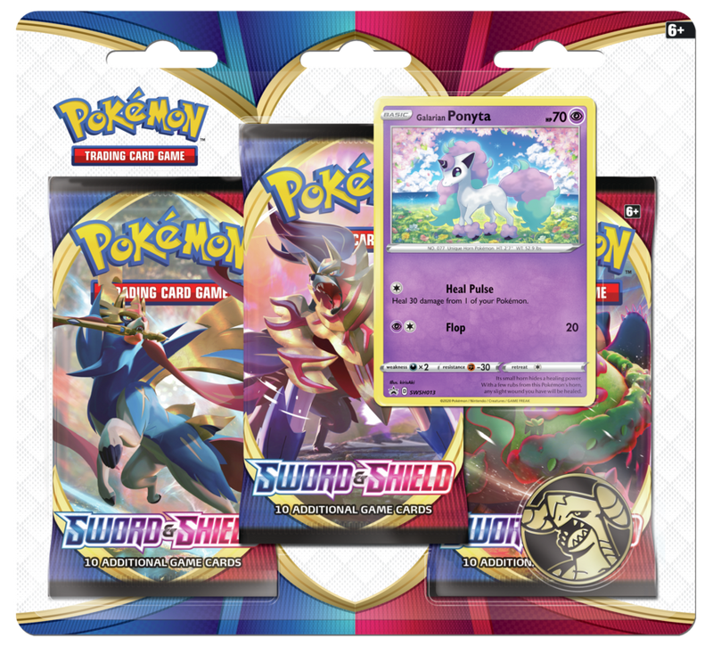 Pokemon - TCG - Sword & Shield Base Set Three Booster Blister