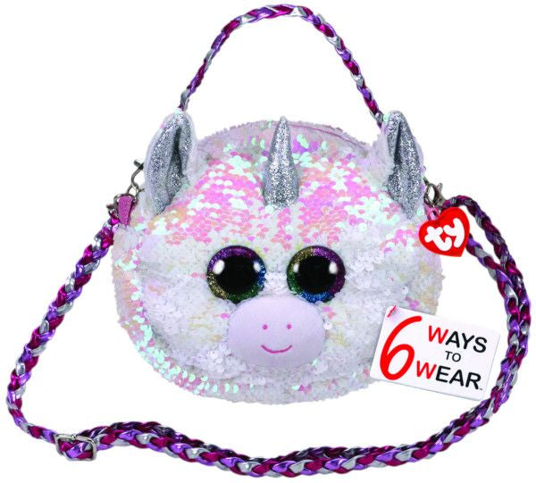 TY Gear Sequin Purse - Diamond the White Unicorn