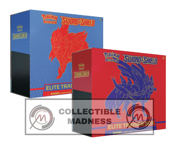 Pokemon - TCG - Sword & Shield Base Set Elite Trainer Box Options