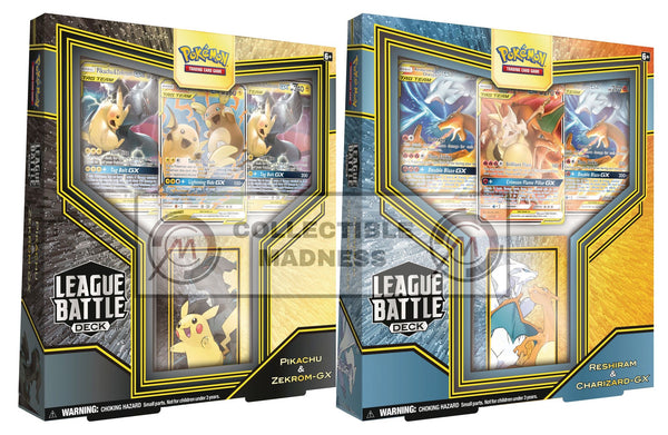 Pokemon - TCG - League Battle Decks- Reshiram & Charizard + Pikachu & Zekrom-GX