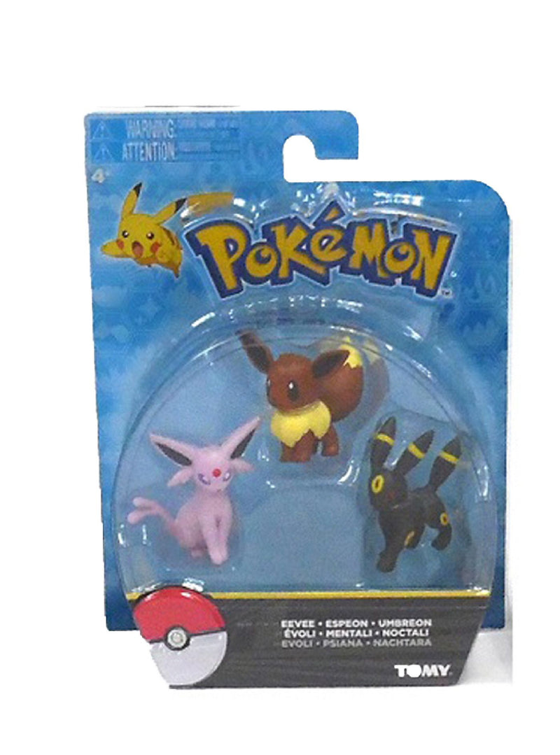 Pokemon Eevee 3 Pack Figurines
