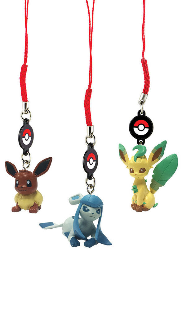 Pokemon Danglers 3 Pack - Eevee / Leafeon / Glaceon Set