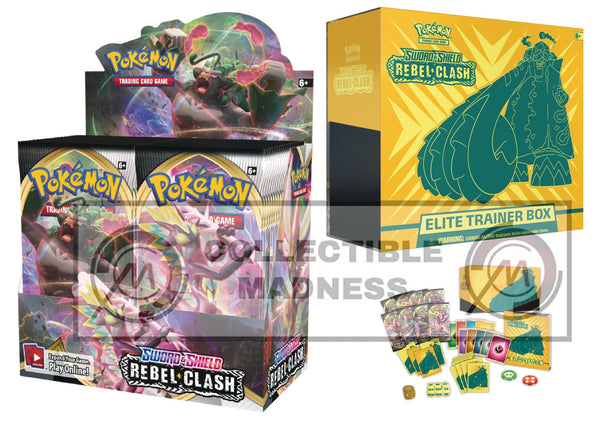 Pokemon - TCG - Rebel Clash Booster Box Bundle #5