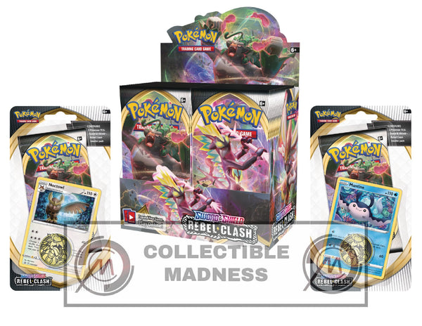 Pokemon - TCG - Rebel Clash Booster Box Bundle #2