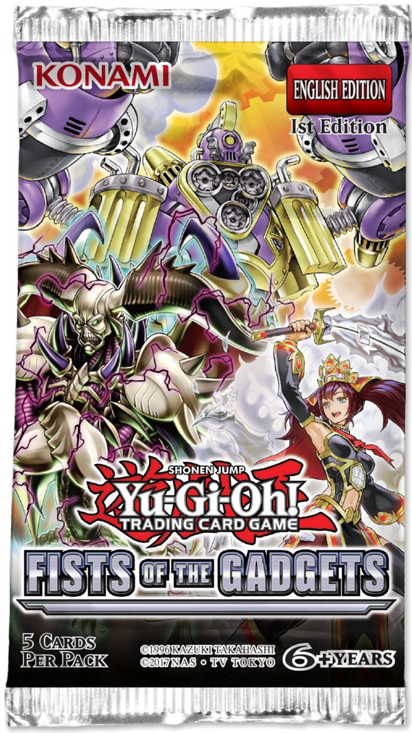 YU-GI-OH! - TCG - Fist of the Gadgets 5 x foil card Booster Pack Options