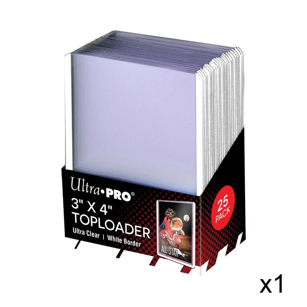 "ULTRA PRO Top Loader - 3 x 4"" 35pt Regular - White Border"