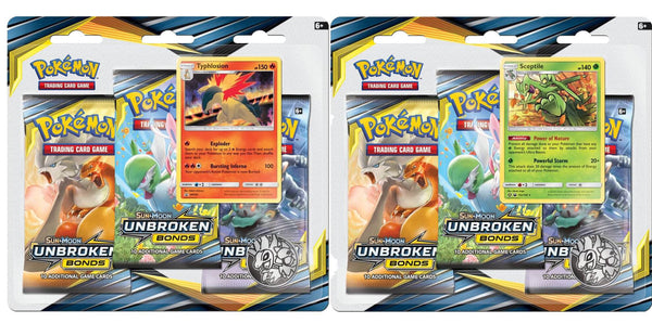 Pokemon - TCG - Unbroken Bonds Three Booster Blister