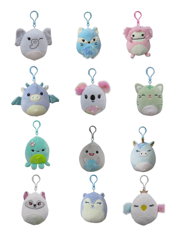 "SQUISHMALLOWS 3.5"" Clip-Ons Assortment"