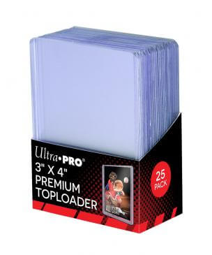 ULTRA PRO Top Loader - 3x4 - Super Clear Premium (PK 25)