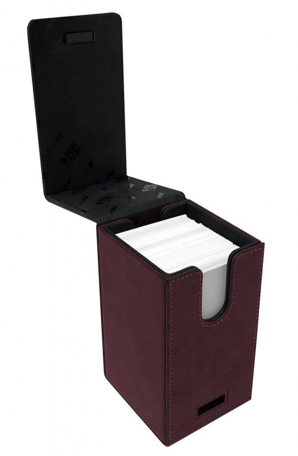 ULTRA PRO - Alcove Tower Suede Deck Box - Ruby