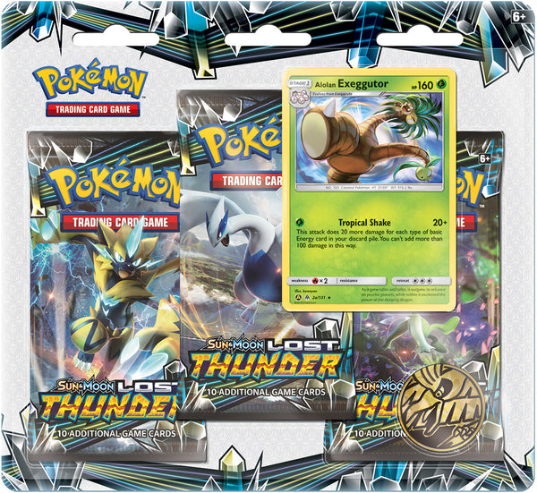 Pokemon - TCG - Lost Thunder Three Booster Blister