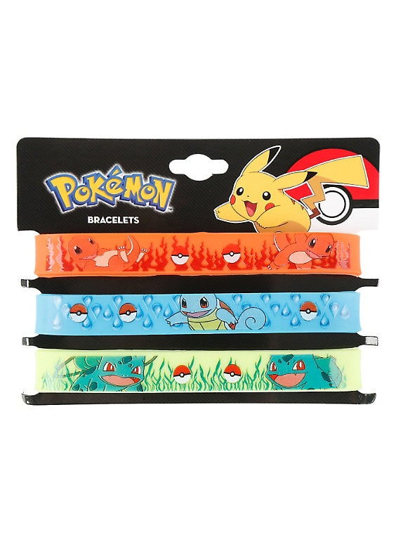 Pokemon Bracelet Pokemon Rubber Set 3 Pack