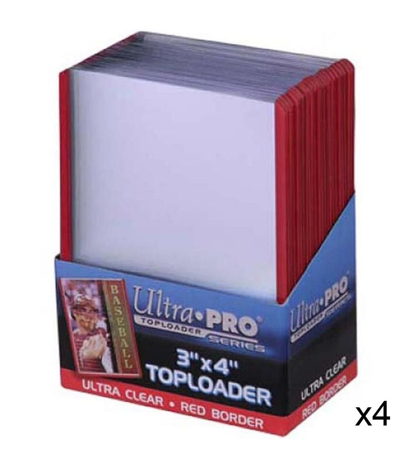 "ULTRA PRO Top Loader - 3 x 4"" 35pt Regular - Red Border"
