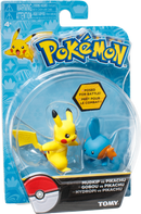 Pokemon Action Pose Figures - Pikachu Vs Mudkip