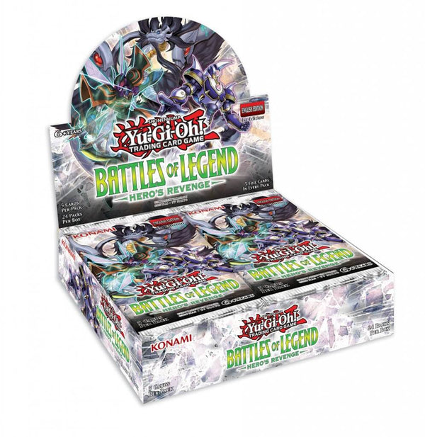 YU-GI-OH! TCG Battles of Legend: Heroes Revenge 5 x Foil Card Booster Box Options
