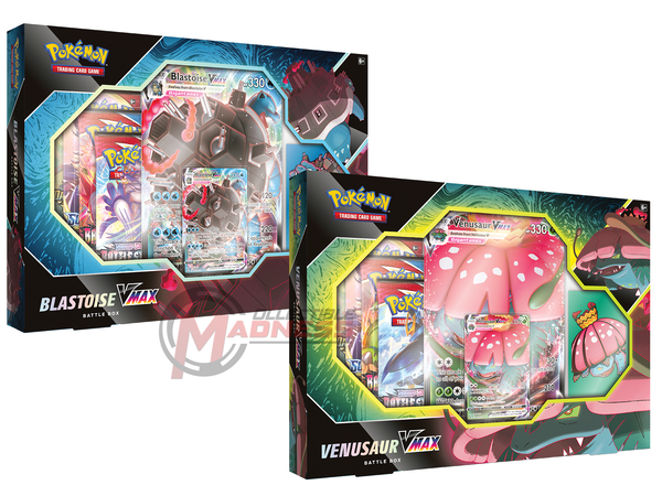 Pokemon - TCG - Venusaur & Blastoise VMAX Battle Boxes