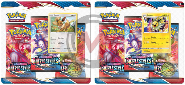 Pokemon - TCG - Battle Styles Three Pack Booster Blister