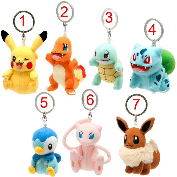 Pokemon Keychain Plush Assortment - 9cm