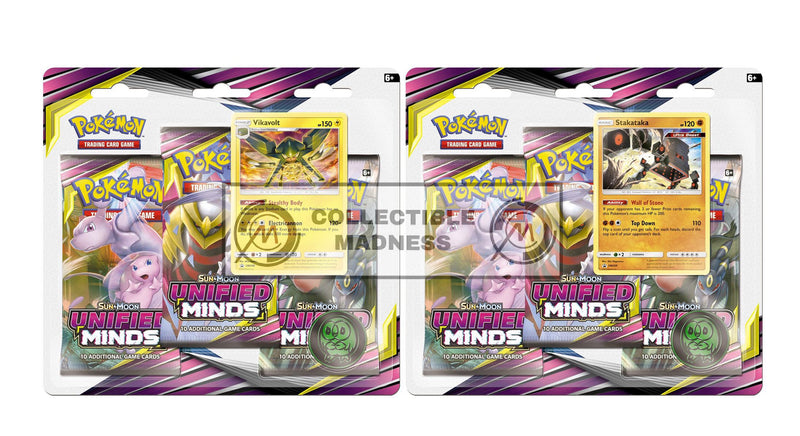 Pokemon - TCG - Unified Minds Three Booster Blister