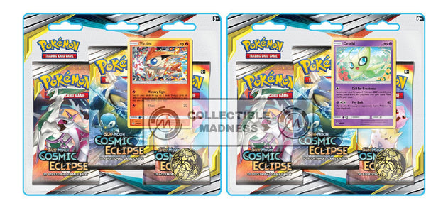 Pokemon - TCG - Cosmic Eclipse Three Booster Blister