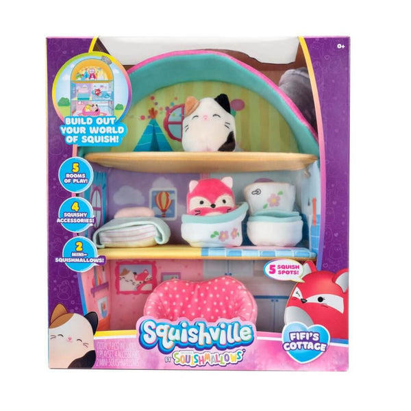 SQUISHMALLOWS SQUISHVILLE - Large Soft Playset (Squishville House Assortment)