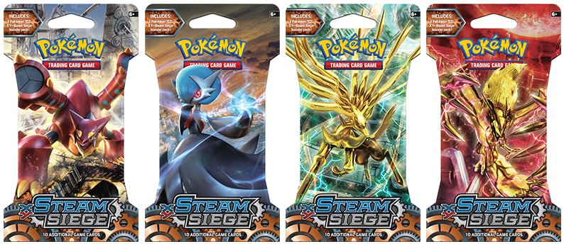 Pokemon - TCG - XY Steam Siege Booster Pack Options
