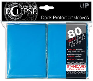 ULTRA PRO - DECK PROTECTORS STANDARD - 80ct Pro-Matte (Non Glare) - Eclipse Light Blue
