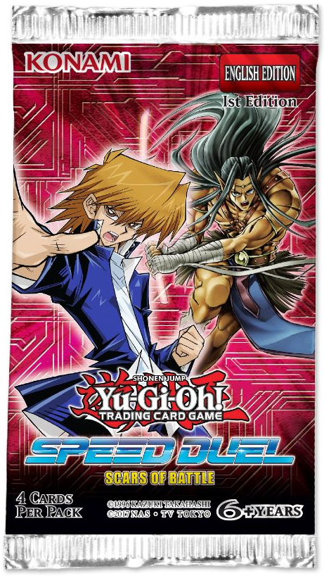 YU-GI-OH! - TCG - Speed Duel: Scars of the Battle 4 x card Booster Pack Options