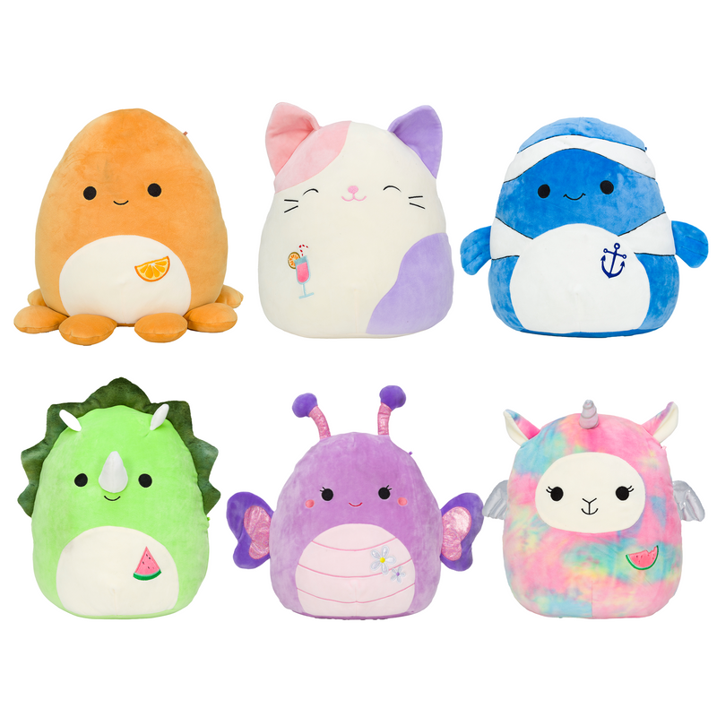 "SQUISHMALLOWS 16"" Plush Summer Fun Assortment"