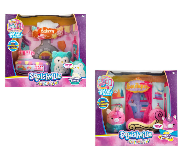 SQUISHMALLOWS SQUISHVILLE - Medium Soft Playset (Squishville Play Scene Asst)