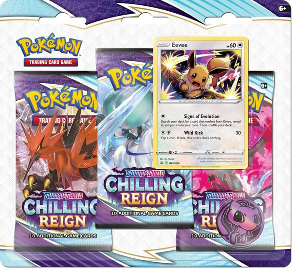 Pokemon - TCG - Chilling Reign Three Pack Booster Blister