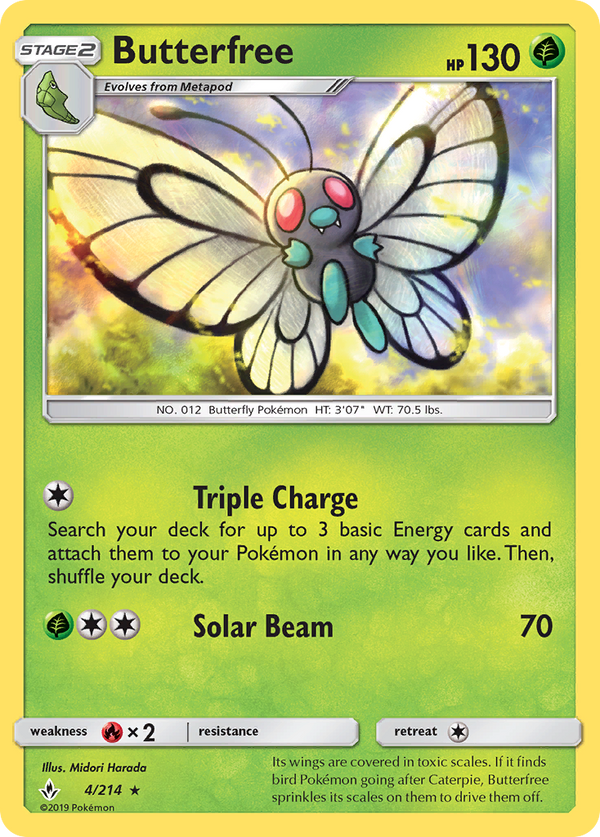 004 / 214 Butterfree - Rare