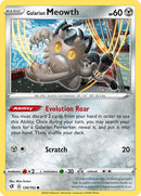 126 / 192 Galarian Meowth - Common Reverse Holo